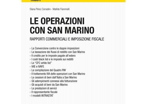 Le operazioni con San Marino
