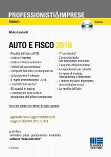 Auto e fisco 2016