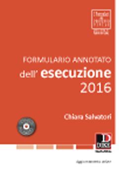 Formulario annotato dell'esecuzione 2016
