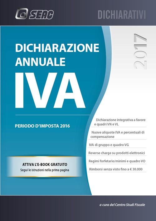Dichiarazione annuale iva 2017 libreria del professionista for Aliquote iva in vigore 2017