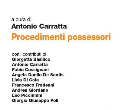 Procedimenti possessori art. 703-705