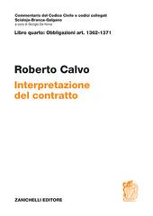 ART. 1362-1371 Interpretazione del contratto