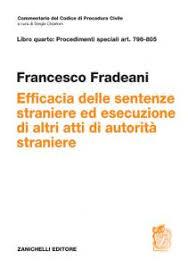 ART.796-805 Efficacia delle sentenze straniere ed esecuzione di altri atti di autorità straniere
