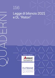 """Legge di bilancio 2021 e DL """"Ristori"""""""